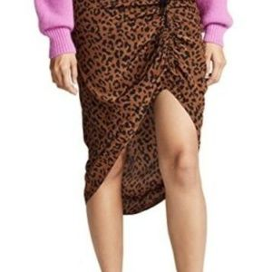 Diane Von Furstenberg Ruched Side Slit Skirt